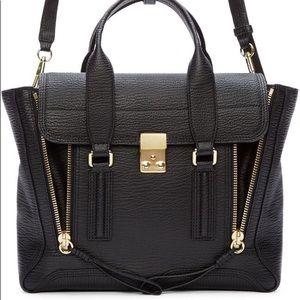 Phillip Lim Medium Leather Pashli Bag in Black
